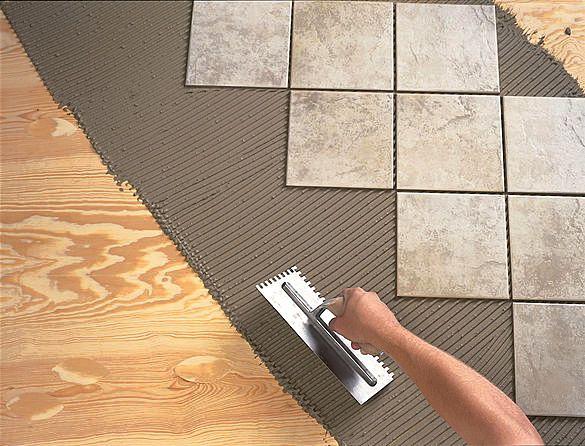 Положить плитку на цементный раствор шов бетона